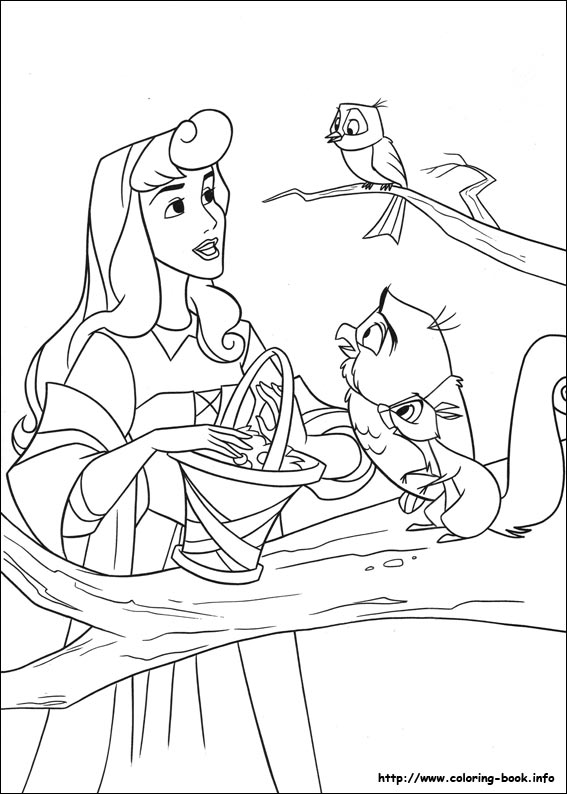 Sleeping Beauty coloring pages on Coloring-Book.info