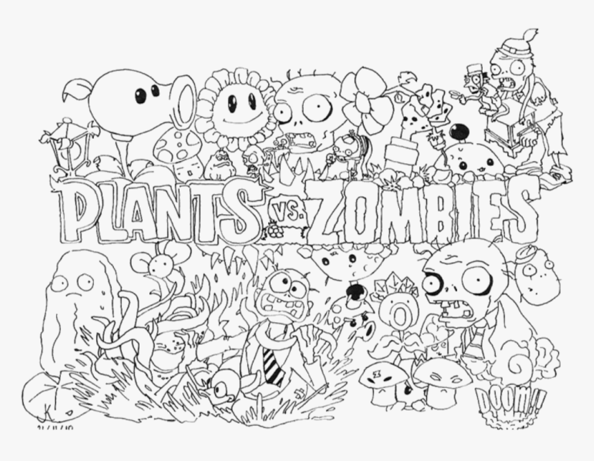 Plants Vs Zombies Coloring Pages To Color For Image Inspirations €�  Azspring - Coloring Home