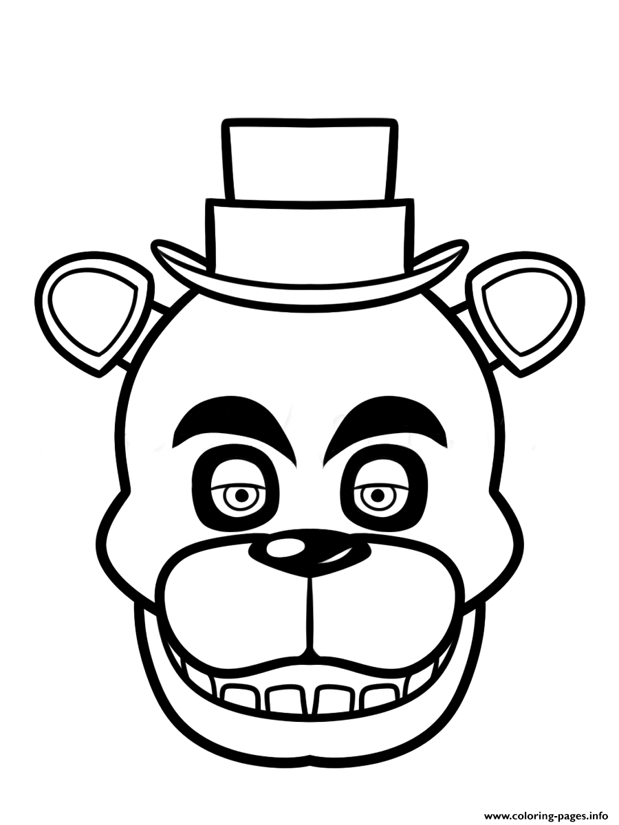 Print fnaf freddy five nights at freddys face coloring pages ...
