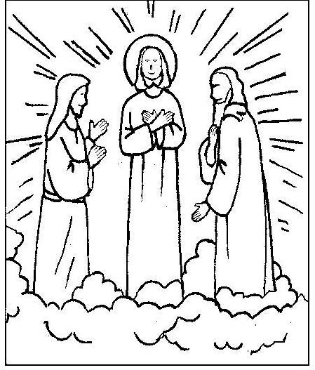 Transfiguration Of Jesus Coloring Pages | Transfiguration Of Jesus ...
