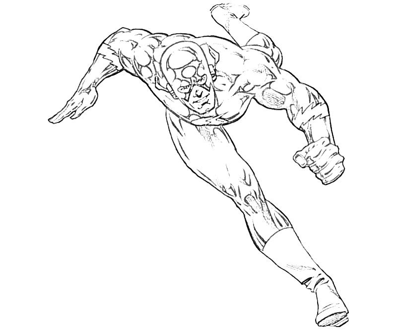 Flash Running Coloring Pages - Coloring Home