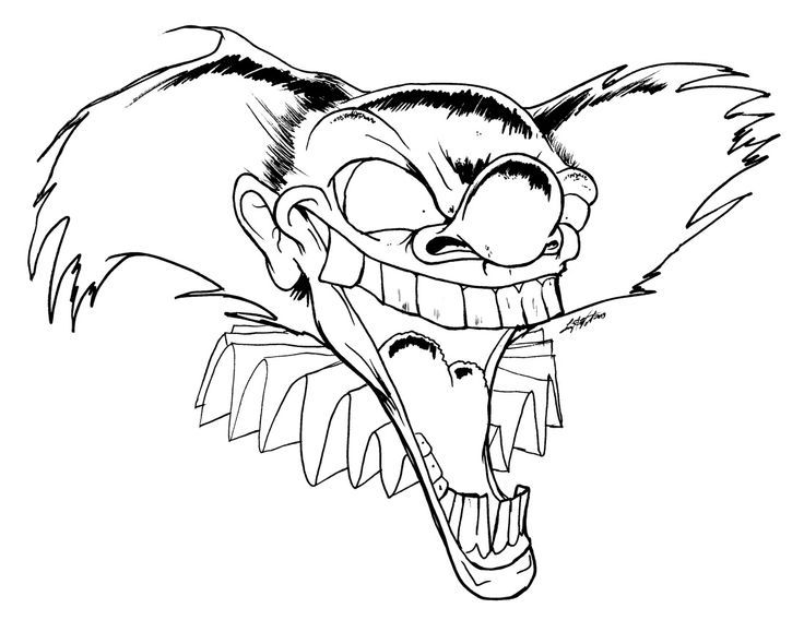 Clown Coloring Pages   CB Clown coloring page   Coloring pages ...   568x736