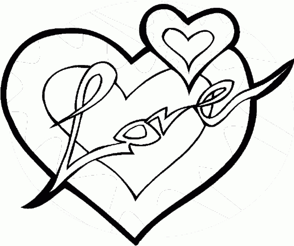 Get This Online Hearts Coloring Pages for Kids OS92R !
