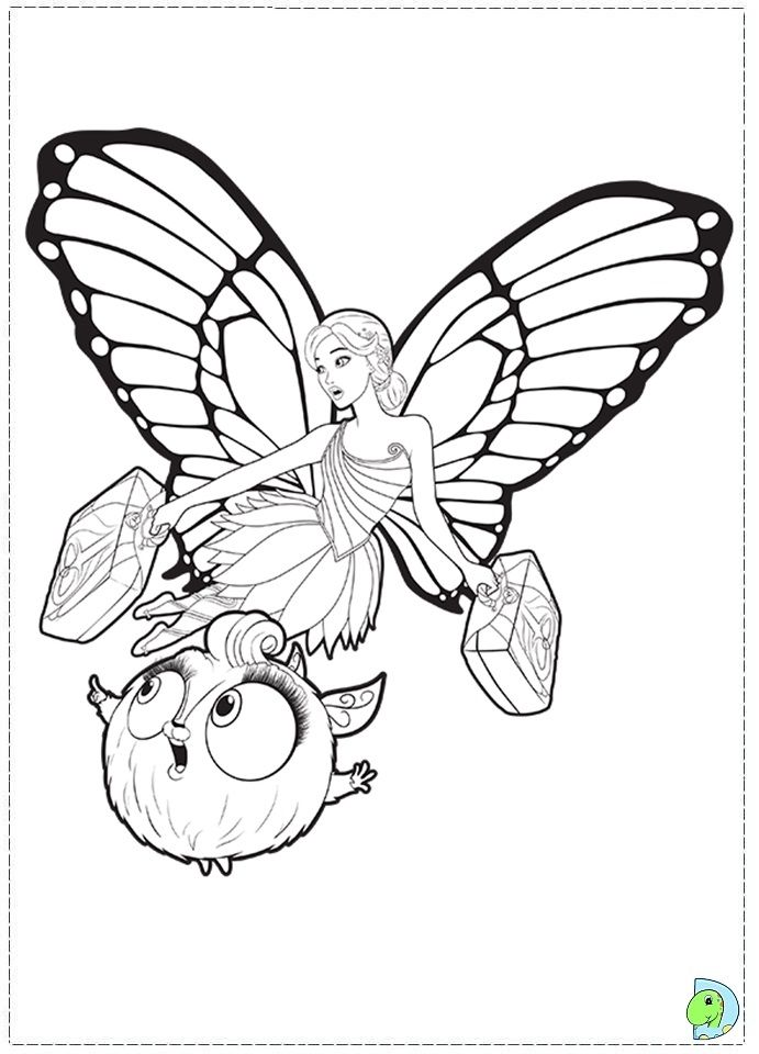 Barbie Mariposa And The Fairy Princess Coloring Page - Coloring Home