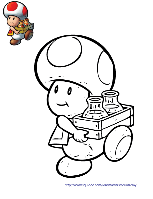 Mario Bros Coloring Pages Squid Army Az Coloring Pages