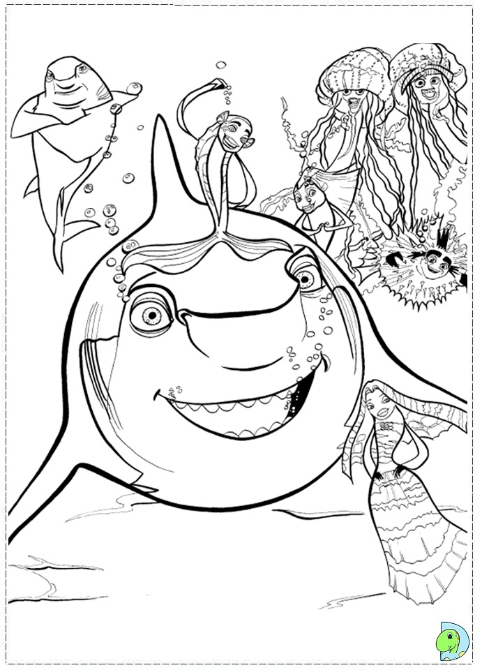 Shark Tale Coloring Az Coloring Pages Tale Coloring Page
