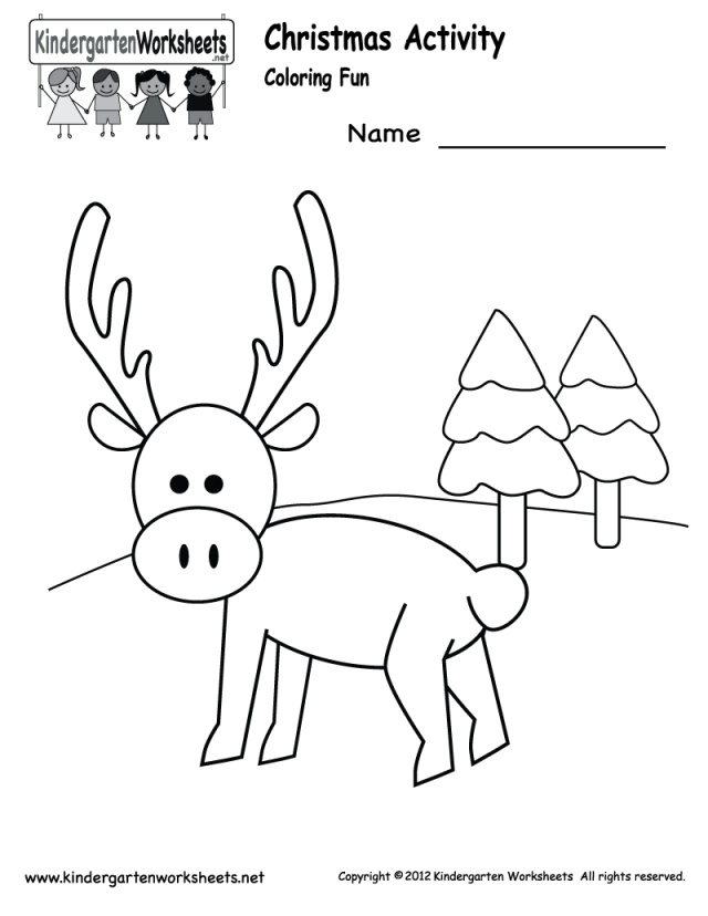 Christmas Coloring Activities For Kindergarten : Kindergarten Christmas Coloring Pages Coloring Home