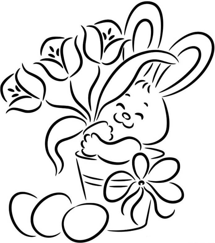 Easter Flower Coloring Pages AZ