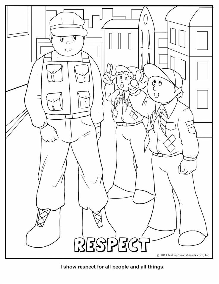cub scout coloring pages free - photo#4
