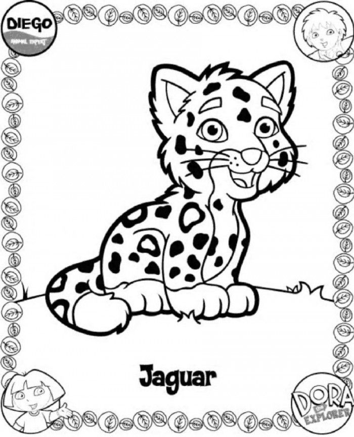 Baby Jaguar Coloring Pages