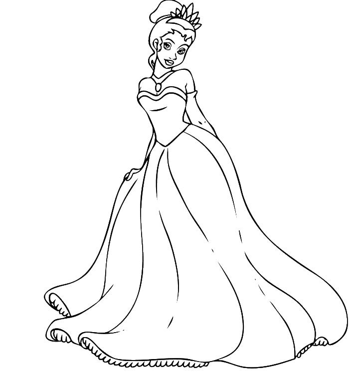 Tiana Transparent Animated Princess: Prince And Princess Coloring Pages