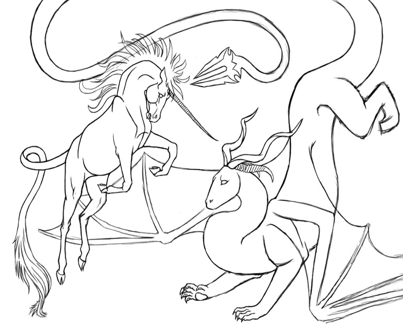difficult dragons Colouring Pages (page 2)