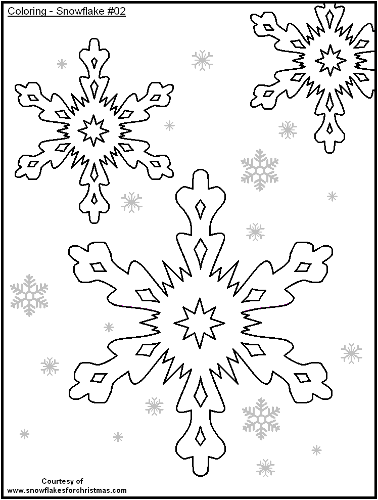 snowflakes coloring pages for toddlers - photo#31