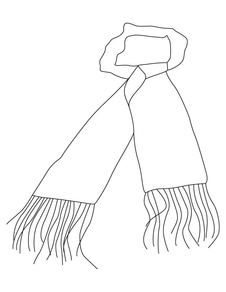 scarf coloring page coloring home