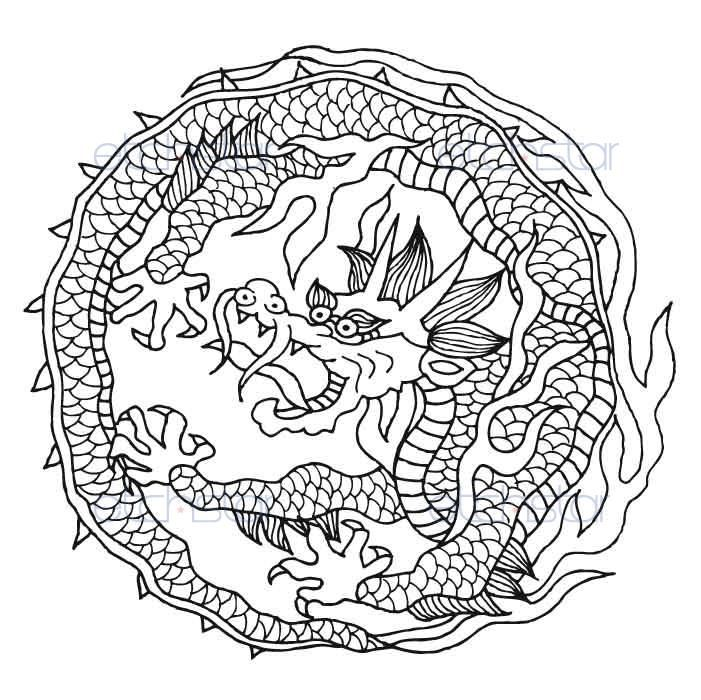 blackberry coloring page - japanese flying dragon custom ipod macbook blackberry