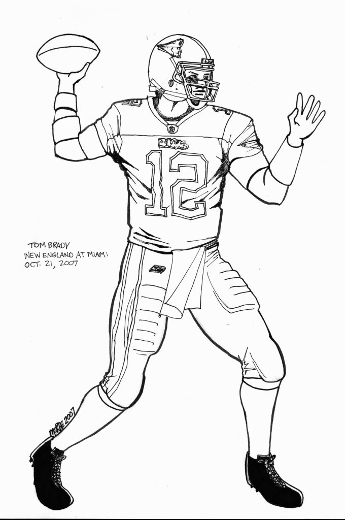 Tom Brady Coloring Pages Coloring Home Tom Brady Coloring