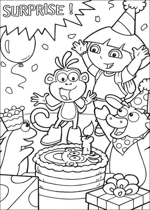 Happy Birthday Disney Coloring Pages Free Printable Happy Birthday