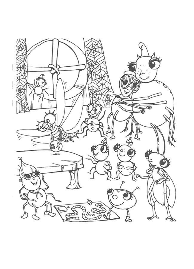 Miss Spider Coloring Pages Coloring Home