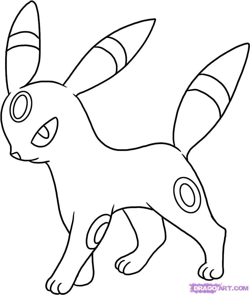 Pokemon umbreon coloring pages coloring home for Cool pokemon coloring pages