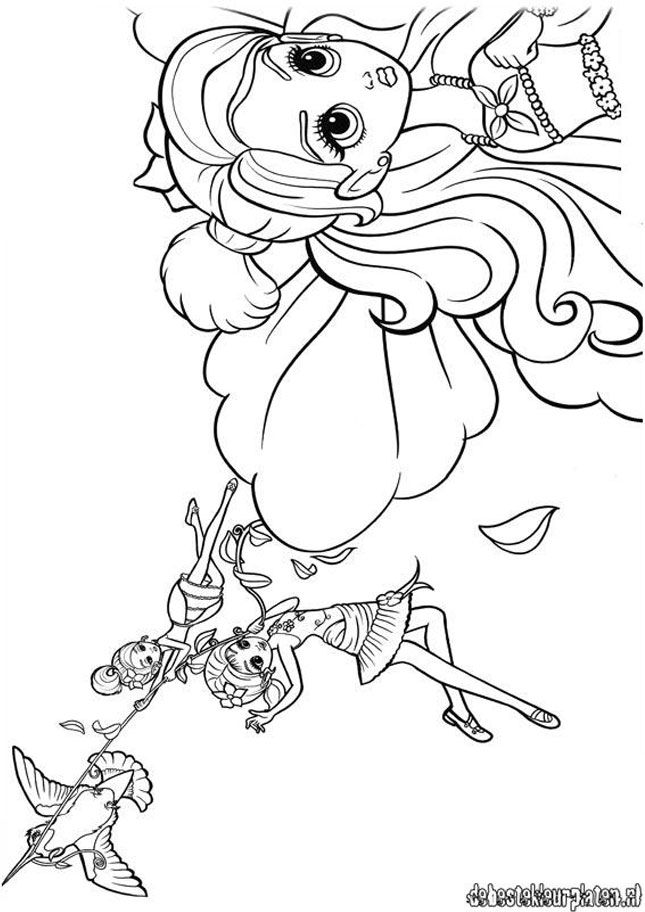 Thumbelina Coloring Page Coloring Home