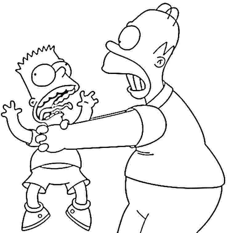 the simpsons coloring book pages - photo#38