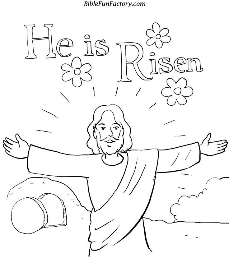 He is Risen coloring page | Easter