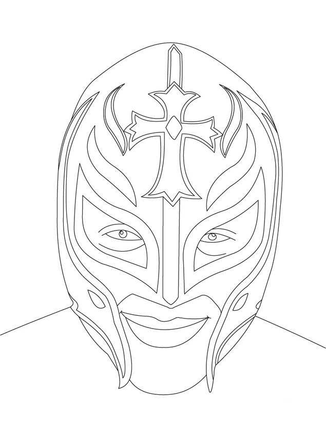 coloring pages wwe - photo#20