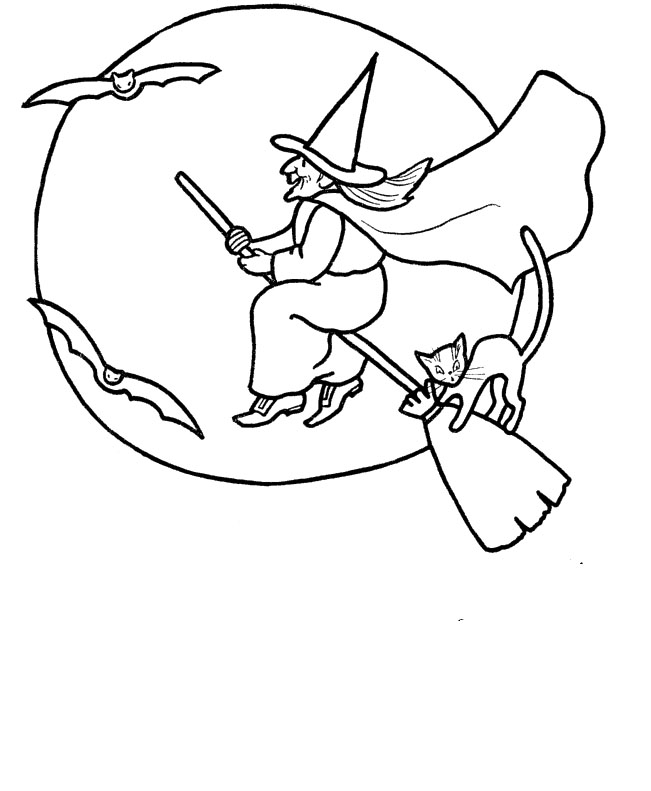 Witch Hat Coloring Page - AZ Coloring Pages