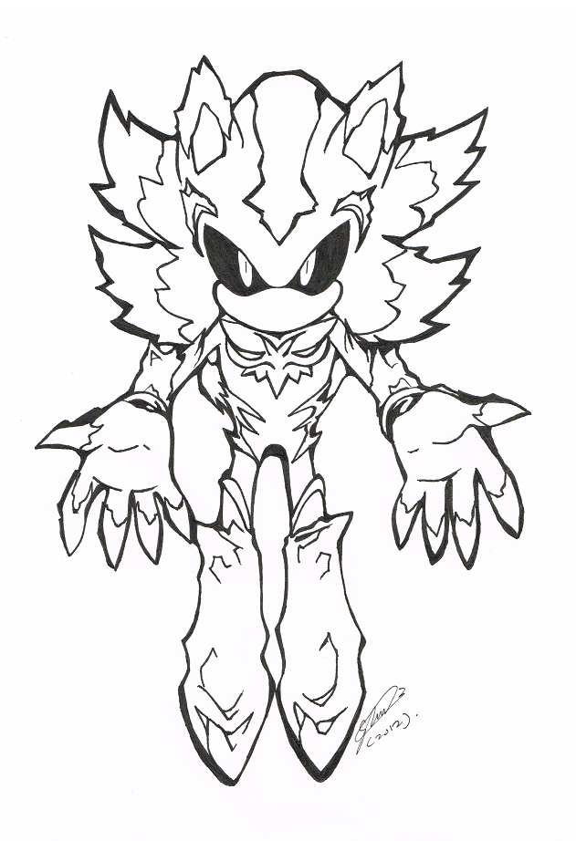 the gallery for gt dark sonic coloring pages