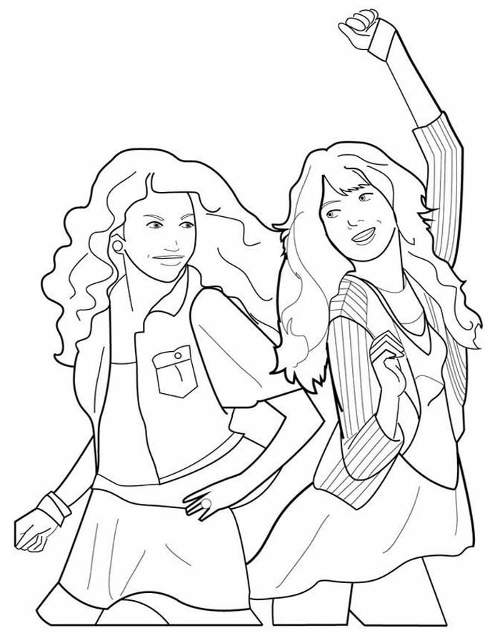 Shake It Up Coloring Pages
