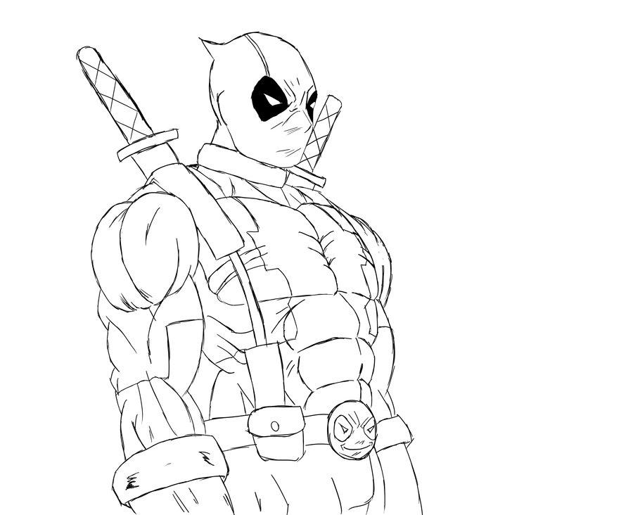 Deadpool Coloring Pages AZ Coloring