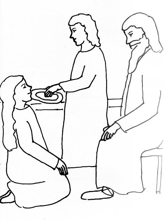 bible story coloring page for jesus martha and mary free bible - Elijah Bible Story Coloring Pages