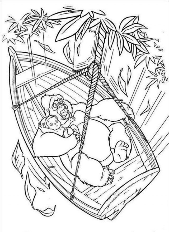 Tarzan and jane coloring pages coloring home - Tarzan coloriage ...