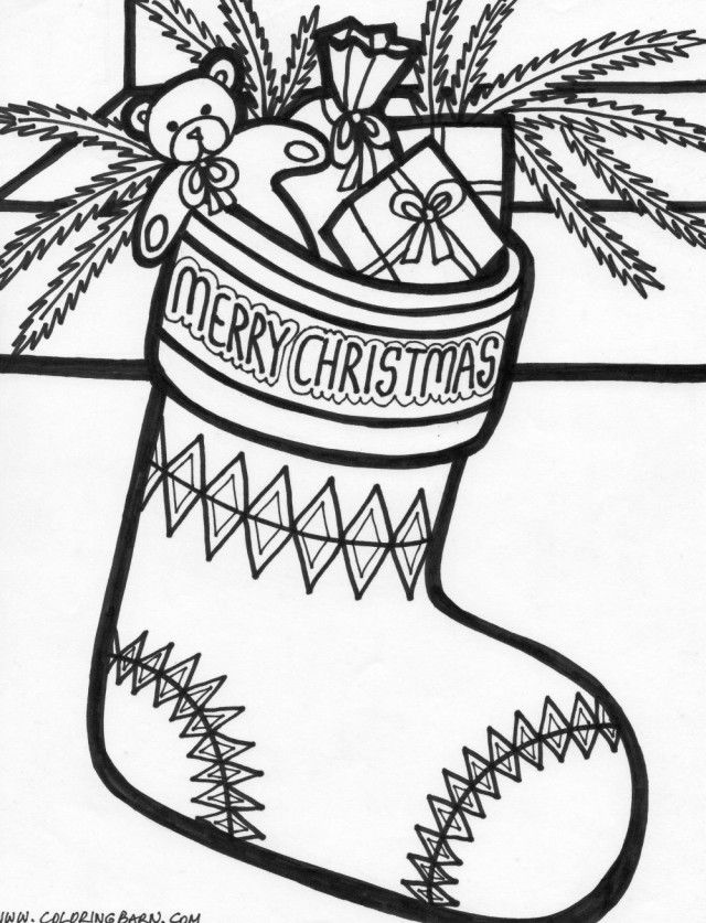 Children Christmas Stockings - Coloring Home