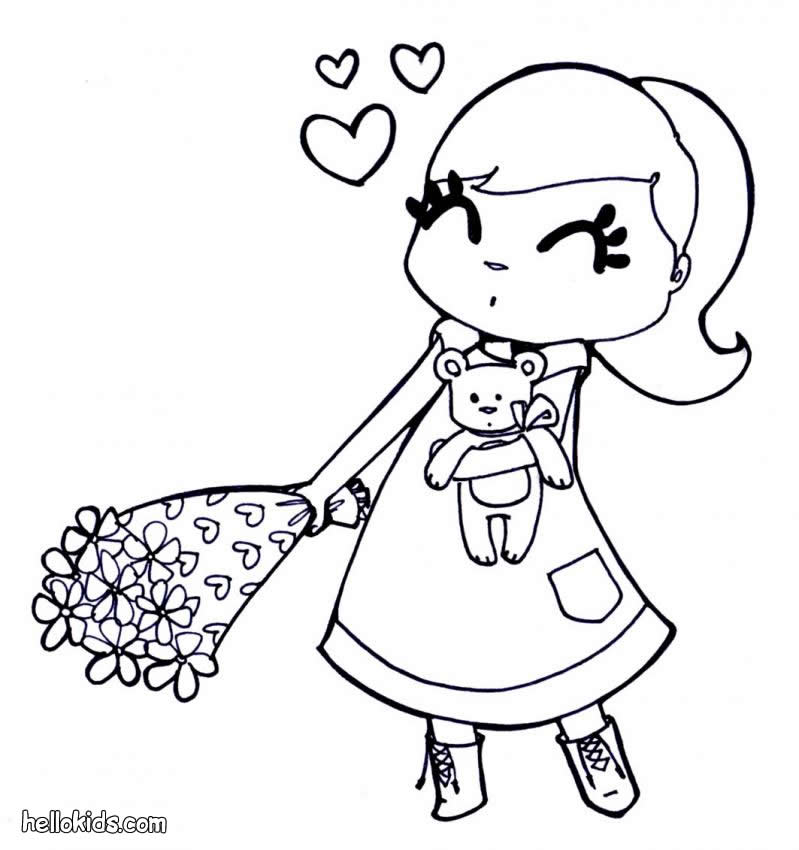 Coloring Pages For Girls Flowers - Coloring Home