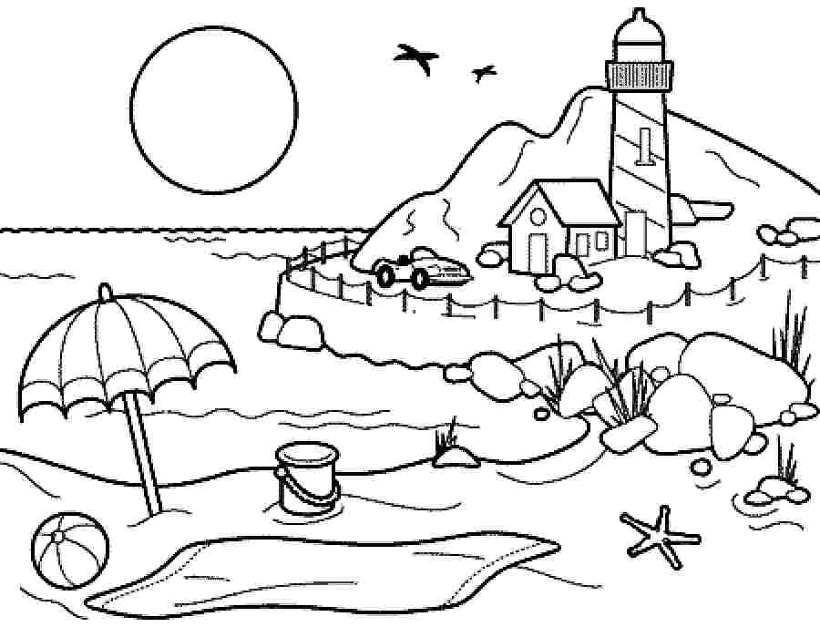 boy summer coloring pages - photo#11