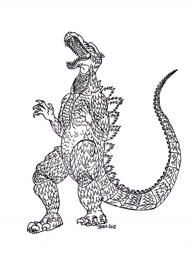 Free Godzilla Coloring Pages Coloring Pages Amp Pictures