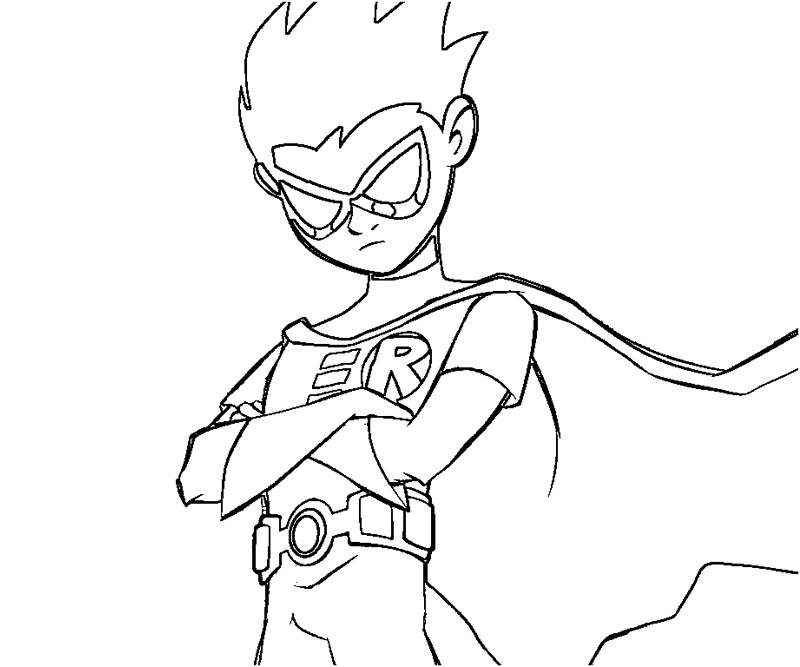 teen titans coloring pages - photo#11