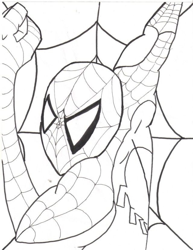 spectacular spiderman coloring pages - photo#2