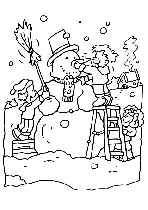 printable coloring pages snow - photo#26