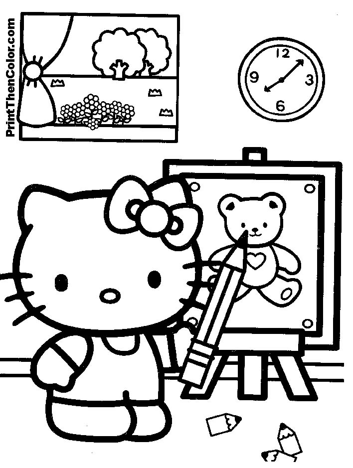 baby hello kitty coloring pages - photo#18