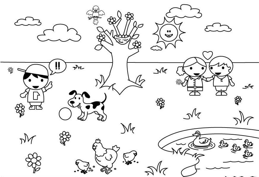 Free Weather Coloring Pages Coloring