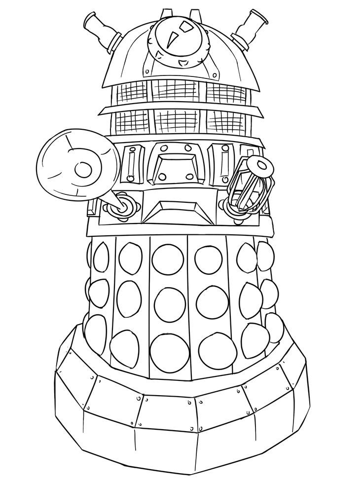 free dr who coloring pages - photo#8