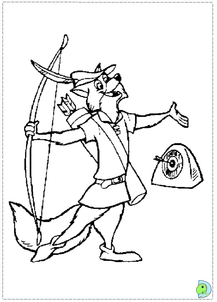 robin hood fox coloring pages - photo#20