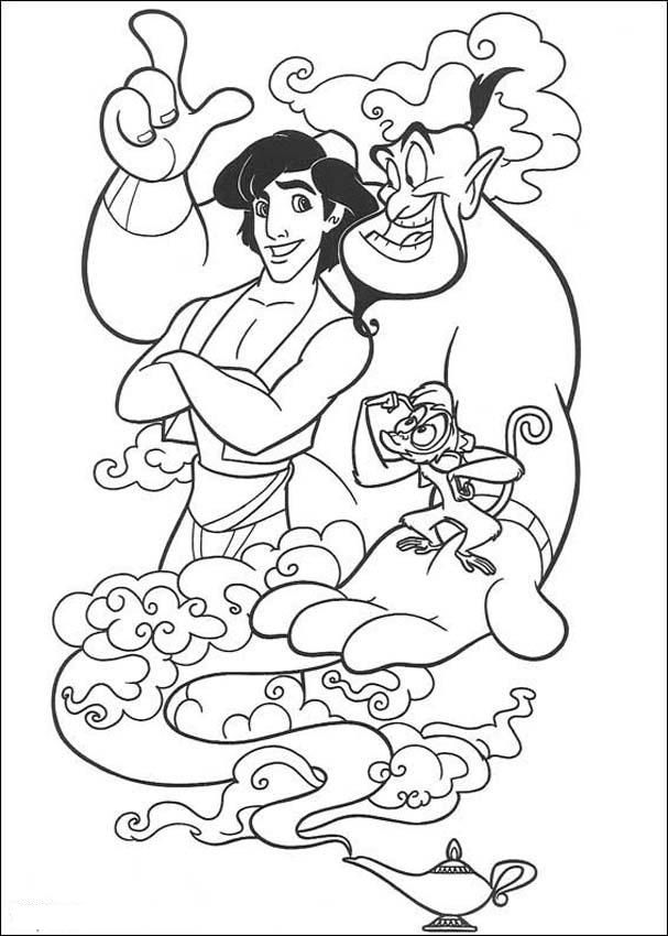 Aladdin Coloring Pages Pdf : Free printable aladdin coloring pages for kids �