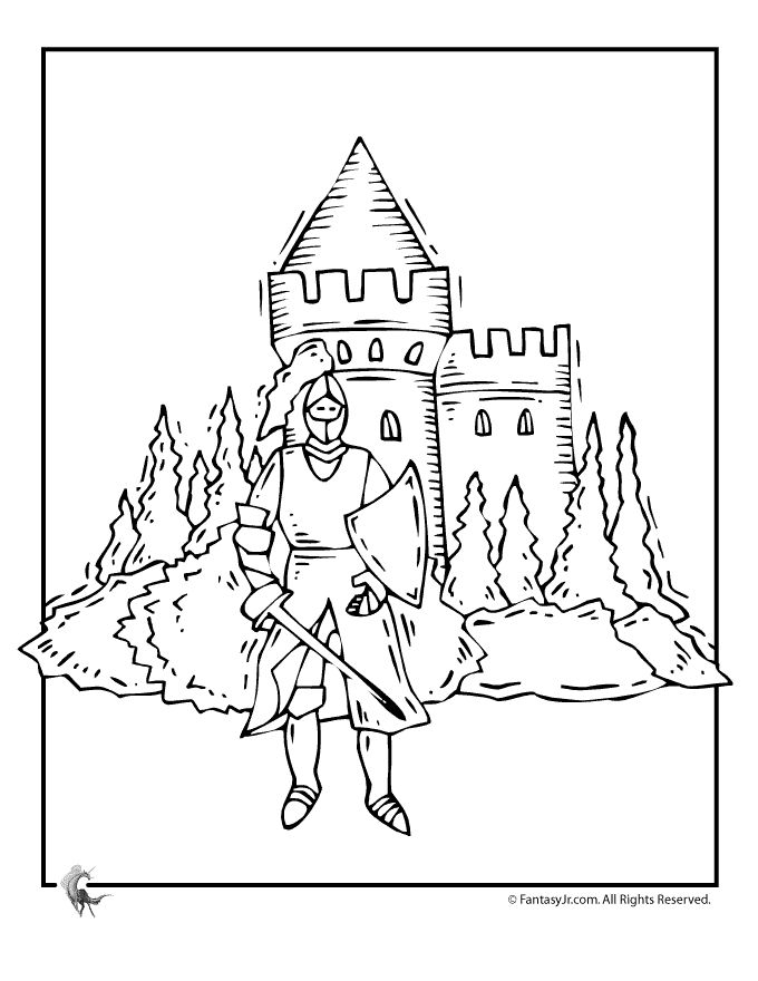 medieval coloring pages feast - photo#20