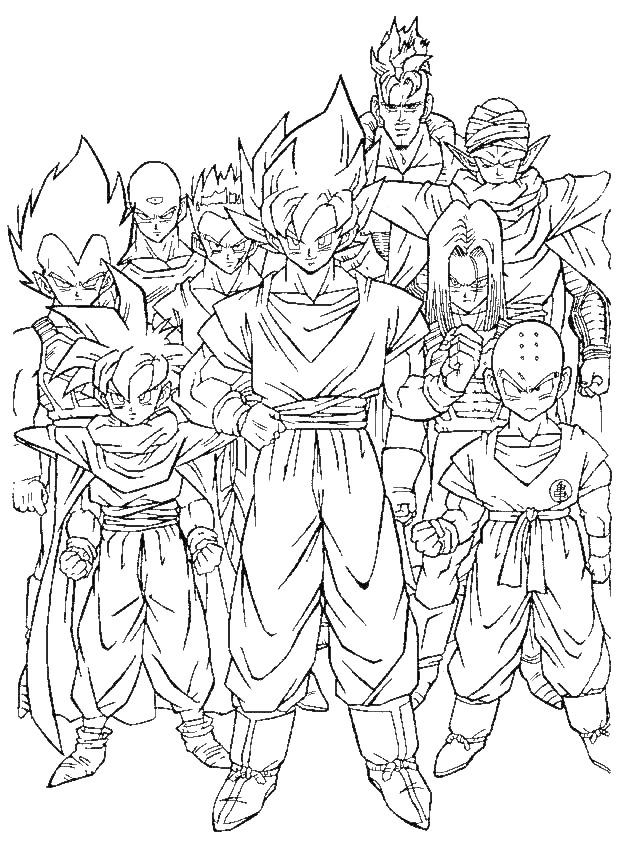 Dragonball Gt Coloring Pages 183 | Free Printable Coloring Pages