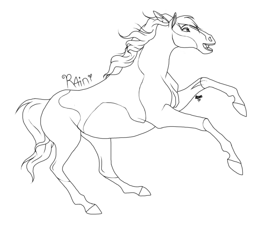 Spirit Horse Coloring Pages To Print Spirit The Horse Color...