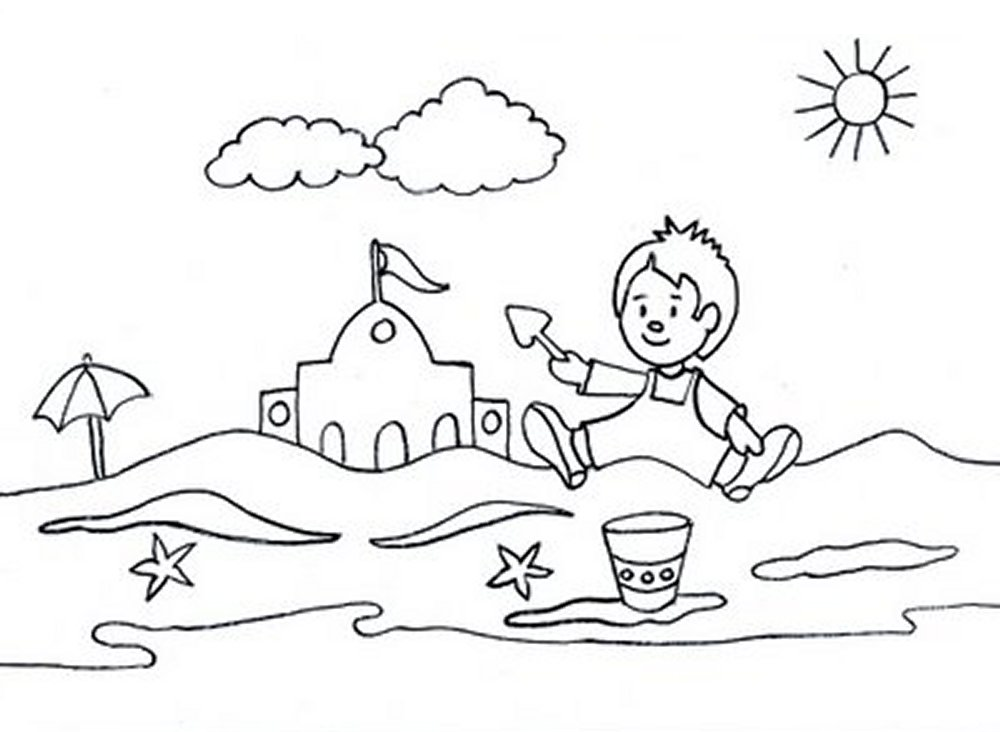 Summer Pictures For Kids - Coloring Home
