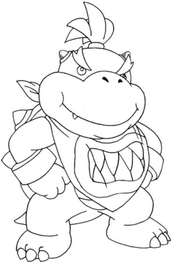 Baby Bowser Super Mario Bros Coloring Pages - Bowser Coloring ...